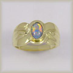Prsten s modrý opálem 225 094